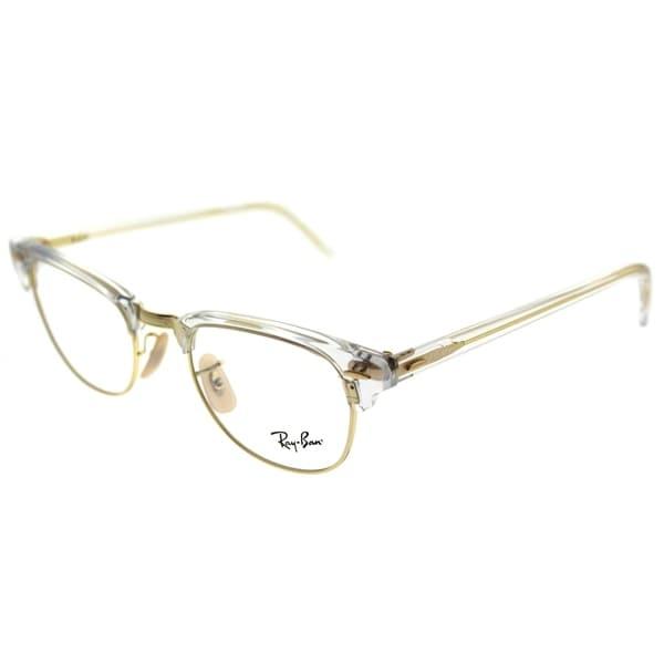 f7c27e2436245 Ray-Ban Clubmaster RX 5154 Clubmaster 5762 Unisex Transparent Frame  Eyeglasses