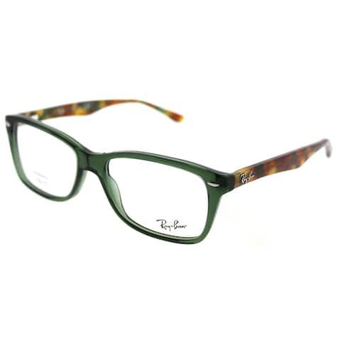 Ray-Ban Rectangle RX 5228 5630 Unisex Opal Green Frame Eyeglasses