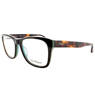 Salvatore Ferragamo Rectangle SF 2693 220 Unisex Torotise Green Frame Eyeglasses
