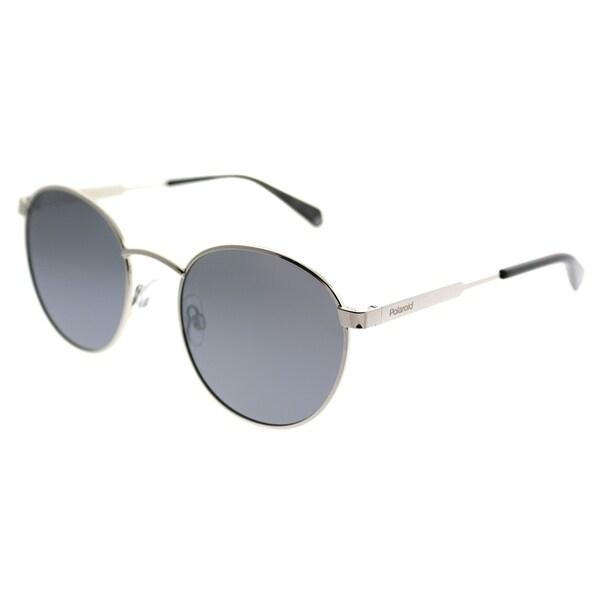 9d8c761b625 Polaroid Round PLD 2053 S 010 EX Unisex Palladium Frame Silver Mirror  Polarized Lens Sunglasses