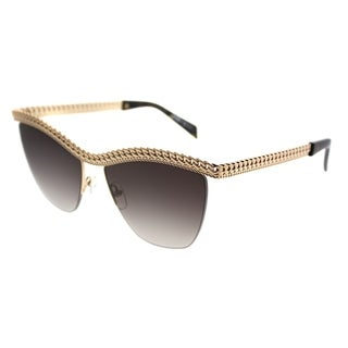 Moschino Cat-Eye 010/S 06J HA Women Gold Havana Frame Brown Gradient Lens Sunglasses