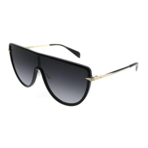 Rag & Bone Shield RNB 1008/S Jupiter 2M2 9O Unisex Black Gold Frame Grey Gradient Lens Sunglasses