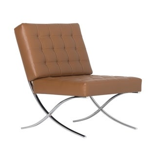 Offex Home Atrium Bonded Leather Chair in Caramel