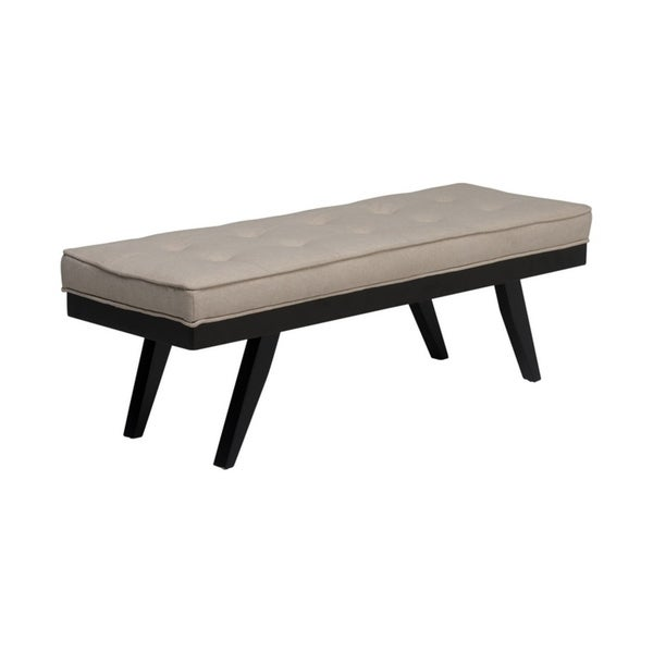 Shop Offex Home Parvise Tufted Upholstered Bench Sand