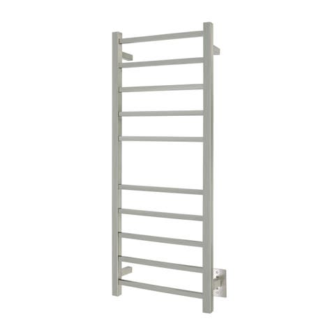 WarmlyYours Premier Collection 10-Bar Sydney Electric Towel Warmer Hardwired Brushed Stainless Steel
