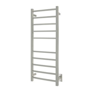 WarmlyYours Premier Collection 10-Bar Sydney Electric Towel Warmer Hardwired Brushed Stainless Steel - N/A