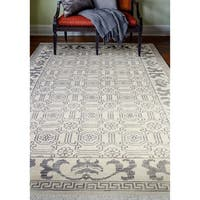 "Delphi Ivory Transitional  Area Rug - 7'6"" x 9'6"""