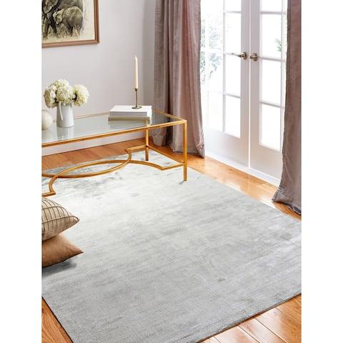 "Calypso Oyster Contemporary Area Rug - 7'9"" x 9'9"""