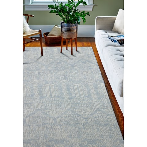Babylon Blue Hand Knotted Transitional Area