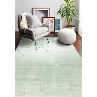 "Calypso Seafoam Contemporary Area Rug - 3'9"" x 5'9"""
