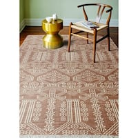 "Babylon Rust Transitional  Area Rug - 8'6"" x 11'6"""