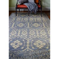 Olympia Azure Transitional  Area Rug - 5' x 7'6""