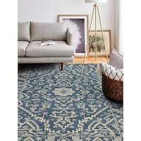 "Palmyra Azure Transitional  Area Rug - 7'6"" x 9'6"""