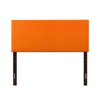 Glory Furniture Orange Faux Leather Adjustable Height Headboard
