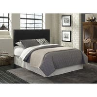 Glory Furniture   Black Faux Leather Adjustable Height Headboard