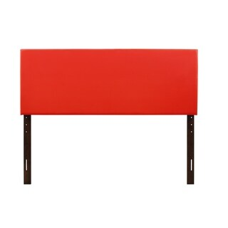 Glory Furniture Red Faux Leather Adjustable Height Headboard