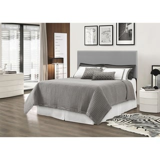 Glory Furniture Light Gray Faux Leather Adjustable Height Headboard