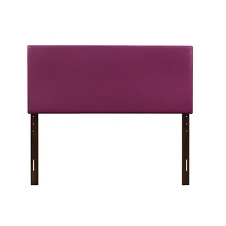 Glory Furniture Purple Faux Leather Adjustable Height Headboard
