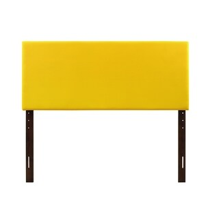 Glory Furniture Yellow Faux Leather Adjustable Height Headboard