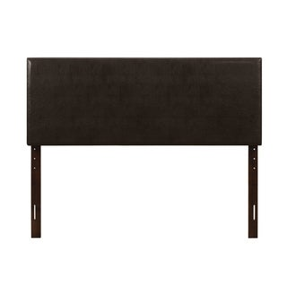 Glory Furniture Cappuccino Faux Leather Adjustable Height Headboard