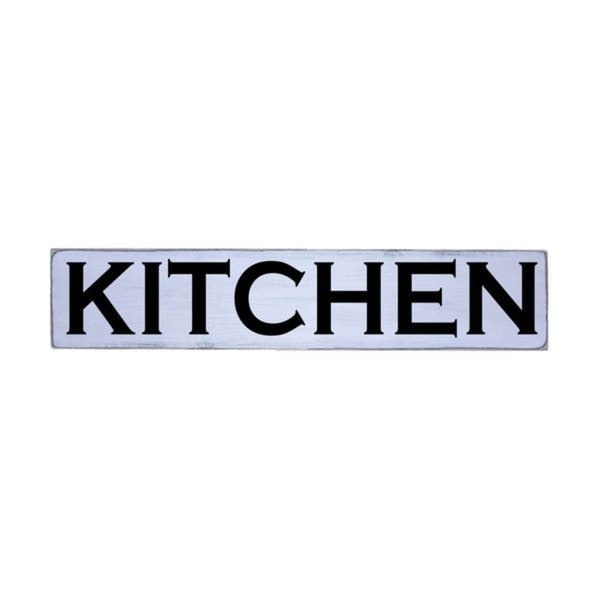 KITCHEN Handmade Farmhouse Style Wall Art Wood Sign 10 in x 48 in
