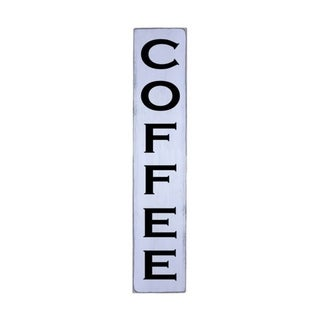 COFFEE Handmade Wall Art Vertical Wood Sign 10 in x 48 in
