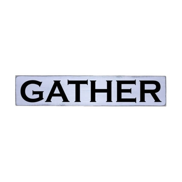 GATHER Handmade Farmhouse Style Wall Art Wood Sign 10 in x 48 in
