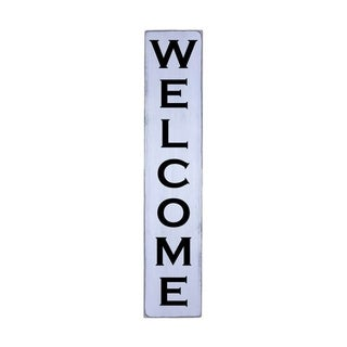 WELCOME Handmade Farmhouse Wall Art Vertical Wood Sign 10 in x 48 in