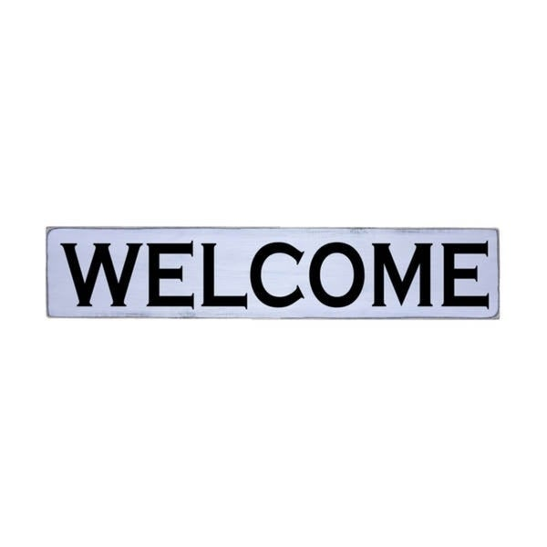 WELCOME Handmade Farmhouse Style Wall Art Wood Sign 10 in x 48 in