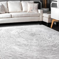 ed0f9673875 Shop nuLOOM Ivory Stylish Modern Abstract Transitional Damask Area ...