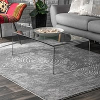 "nuLOOM Grey Stylish Modern Abstract Transitional Faded Area Rug - 5' 3"" x 7' 7"""