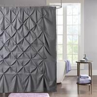 "Hudson Pintuck Fabric Shower Curtain (72""x72"") Grey"