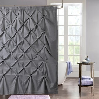 "Hudson Pintuck Fabric Shower Curtain (72""x72"") Grey"