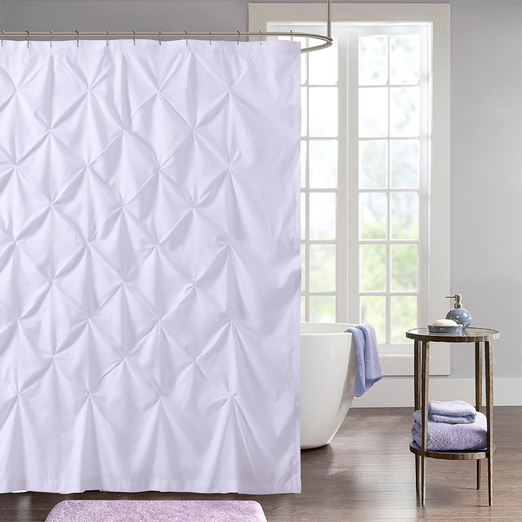 Hudson Pintuck Fabric Shower Curtain 72 X72 White