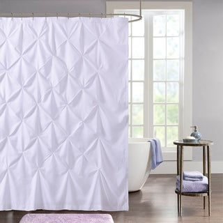 "Hudson Pintuck Fabric Shower Curtain (72""x72"") White"