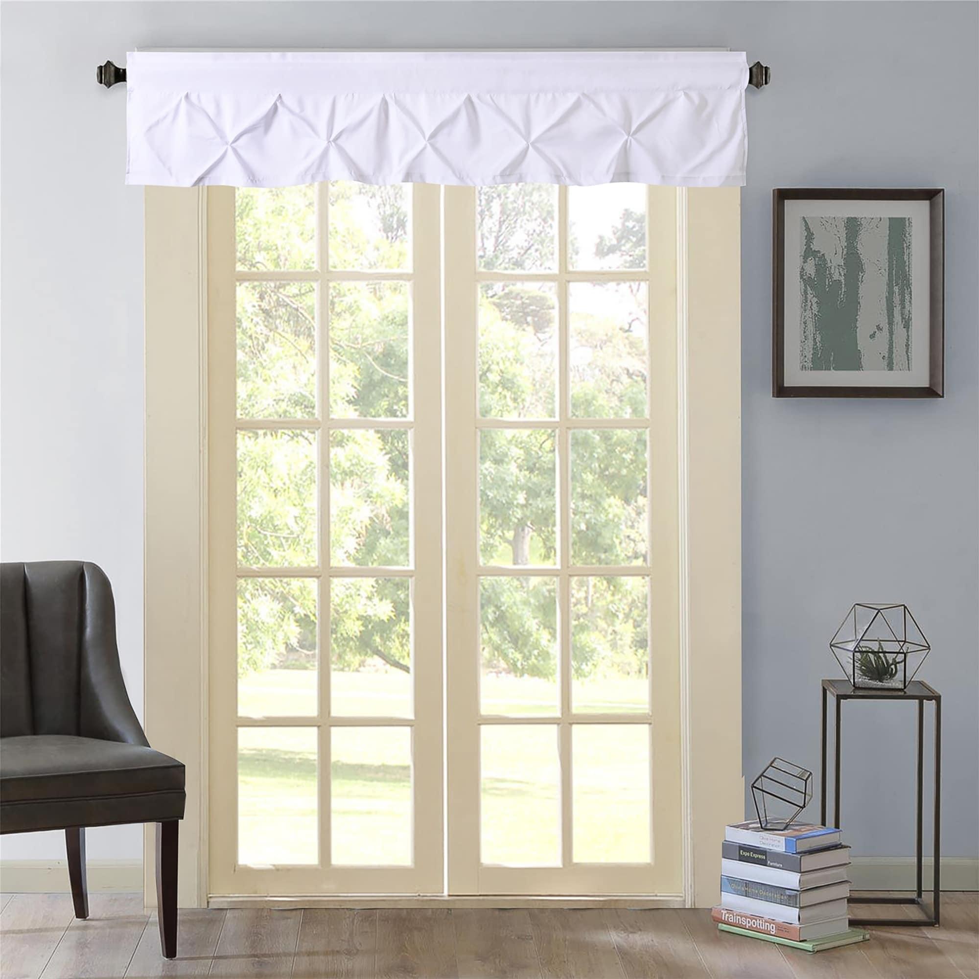 Hudson Pintuck Window Curtain Valance 12 X60 White Overstock 20756627