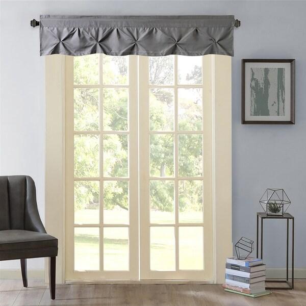 Shop Hudson Pintuck Window Curtain Valance 12 Quot X60 Grey