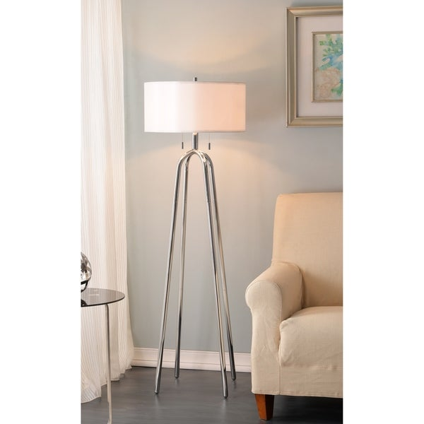 "Arbour 61.5"" Floor Lamp - Chrome"