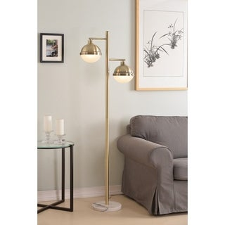 "Atlantic 65"" Floor Lamp - Antique Brass"