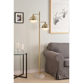 "Design Craft Atlantic 65"" Floor Lamp - Antique Brass"