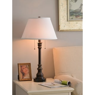 "Design Craft Davies 30.5"" Table Lamp - Oil Rubbed Bronze Finish"