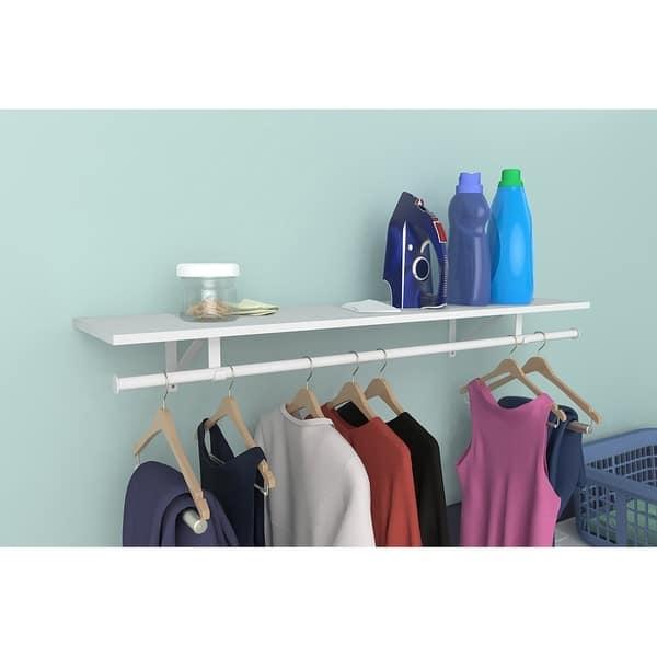 Closetmaid Wood Shelf Kit With Hang Rod Free Shipping