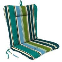 "Jordan Manufacturing Outdoor 21"" x 38"" x 3.5""  Euro Style Dining Chair Cushion, 1-Pack,  Bella Capri"