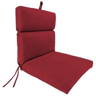 """Jordan Manufacturing Outdoor 22"""" x 44"""" x 4"""" Chair Cushion, 1-Pack,  Ay Nova Crimson"""
