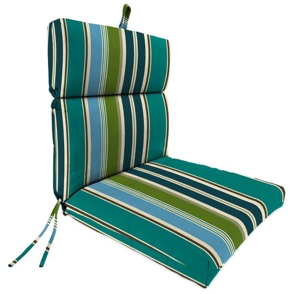 "Jordan Manufacturing Outdoor 22"" x 44"" x 4"" Chair Cushion, 1-Pack, Bella Capri"