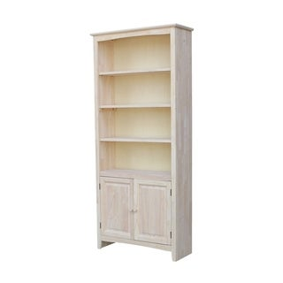 72 inch Shaker Bookcase with Two Lower Doors
