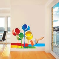 """Paint Art Full Color Wall Decal Sticker AN-530 FRST Size 40""""x63"""""""