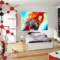 """Portrait Art Full Color Wall Decal Sticker AN-531 FRST Size 20""""x31"""""""