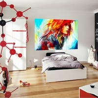 """Portrait Art Full Color Wall Decal Sticker AN-531 FRST Size 30""""x47"""""""