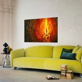 """Candle Art Full Color Wall Decal Sticker AN-548 FRST Size 40""""x63"""""""